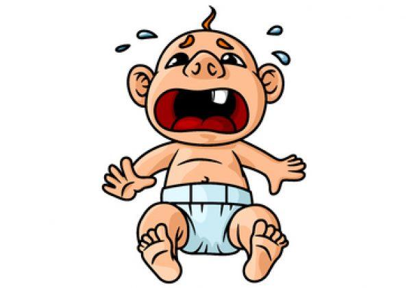 תינוק עם תגובות רגשיות חריפות